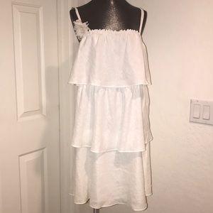 J. Crew white linen dress size 12 new